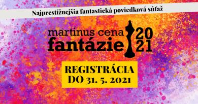 Začína sa #fantastická Martinus Cena Fantázie 2021!